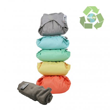 Pack 5 Bolquers De Tela Color Pastel